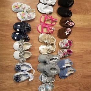 Lot of Baby Shoes 13 Pairs